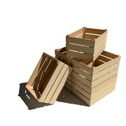 Empty wooden boxes Stock Illustration