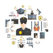 Justice And Punishment Concept Stock Illustration