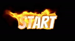 Stock Video Footage of start. text on fire. word in fire. turbulence