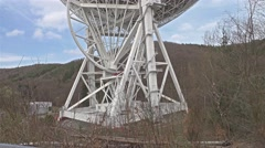 Radio telescope - Details Stock Footage