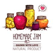 Stock Illustration of Jam Jars Poster