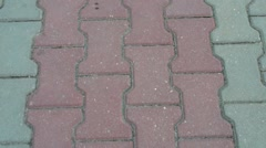 Paving stone Stock Footage