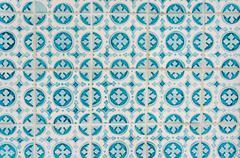 Azulejo portuguese ceramic tiles background Stock Photos