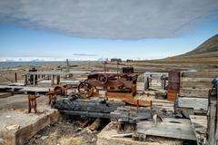 Stock Photo of Old rusted minig equipment, Svalbard