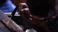 Jewelry work young workers Burma Myanmar Stock Footage