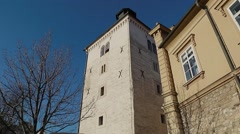 Tower Lotrscak in Zagreb Stock Footage