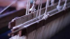 Loom at work in Burma Myanmar Stock Footage