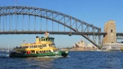Tracking shot of a Sydney ferry in 4k Stock Footage