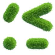 green grass punctuation - stock illustration