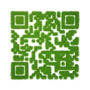 Green grass qr-code Stock Illustration