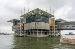Oceanarium building at Nations Park in Lisbon, Portugal - stock photo