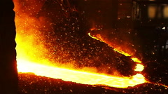 Sparks of molten iron Stock Footage