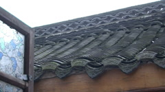 Ornate Chinese roof, close-up Stock Footage