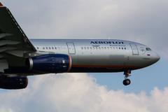 Aeroflot Airbus A330 - stock photo