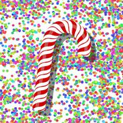 Candy Cane - stock illustration
