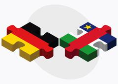 Germany and Central African Republic - stock illustration