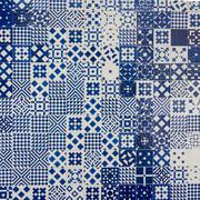 Azulejo portuguese ceramic tiles background - stock photo