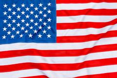 American flag fills the frame completely and fluttering in the wind Stock Photos