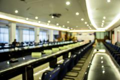 Blurred image of people in auditorium , blur background - stock photo
