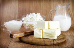 milk product - stock photo