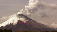 Cotopaxi Volcano, Ecuador, erupting on the 11th of September 2015 - stock footage
