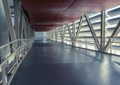 Empty corridor in the modern office building Stock Photos