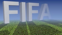 Outburst FIFA inscription Stock Footage