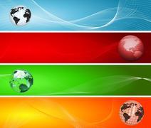 Globe backgrounds - stock photo