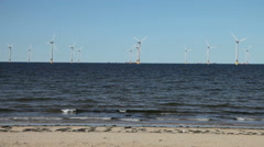 Redcar Wind Farm, Teesside Stock Footage
