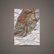 Vector Design Template for Banners, Cards, Flyers, Placards, Booklets and - stock illustration
