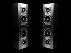 Black speakers - stock photo