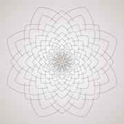 Vector circular pattern in the form of intricate flower. Mandala. Lacy napkin - stock illustration