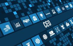 Ceo  concept image with business icons and copyspace. Piirros