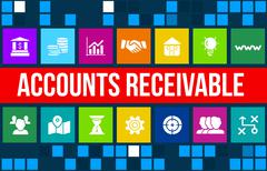 Stock Illustration of Account receivable concept image with business icons and copyspace.