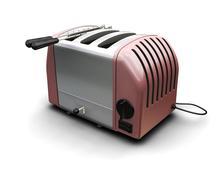 Contemporary toaster - stock photo
