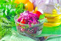 Salad with cabbage Stock Photos