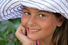 teenager happy and smiling - stock photo
