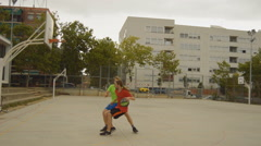 Clumsy Basketball Players - stock footage
