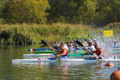 Stock Photo of Participants in the European championship junior and youth kayak-canoe in 201