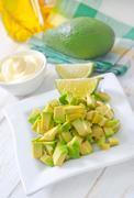 Salad with avocado Stock Photos