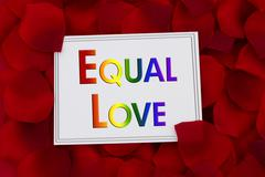 Equal Love Card - stock photo