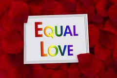 Equal Love Card Stock Photos