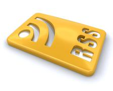 RSS symbol - stock photo