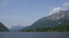 4k Time lapse alps and lake landscape Grundlsee Austria Stock Footage