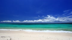 Tropical sea beach with  turquoise water Stock Footage