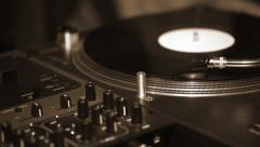 Dj needle stylus on  record - stock footage