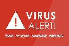 Virus Alert Stock Illustration