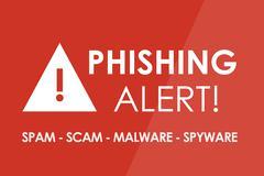 Phishing Alert Stock Illustration