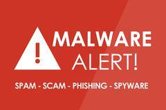Malware Alert Stock Illustration