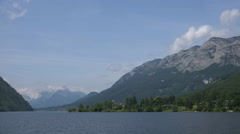 Time lapse alps and lake landscape Grundlsee Austria Stock Footage